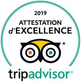 Attestation excellence 2019 Tripadvisor
